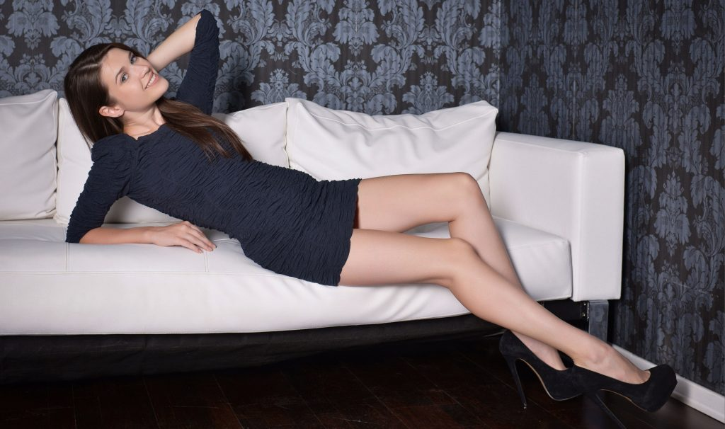 Brunette With Long Sexy Legs